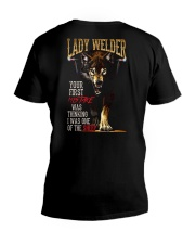 LADY WELDER  - I'M THE WOLF   V-Neck T-Shirt thumbnail