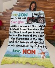 "Gift For Farmer  Premium Large Fleece Blanket - 60"" x 80"" aos-coral-fleece-blanket-60x80-lifestyle-front-04"