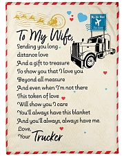 """Trucker's Wife  Premium Large Fleece Blanket - 60"""" x 80"""" front"""