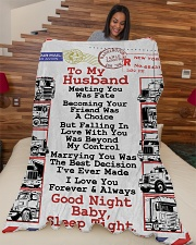 """Gift for a Trucker  Premium Large Fleece Blanket - 60"""" x 80"""" aos-coral-fleece-blanket-60x80-lifestyle-front-04"""