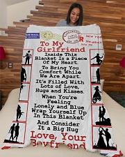 "GIFT FOR GIRLFRIEND- PREMIUM Large Fleece Blanket - 60"" x 80"" aos-coral-fleece-blanket-60x80-lifestyle-front-04"