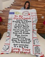 "Nurse  Premium Large Fleece Blanket - 60"" x 80"" aos-coral-fleece-blanket-60x80-lifestyle-front-04"