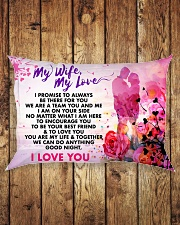 GIFT FOR YOUR WIFE - PREMIUM Rectangular Pillowcase aos-pillow-rectangle-front-lifestyle-2