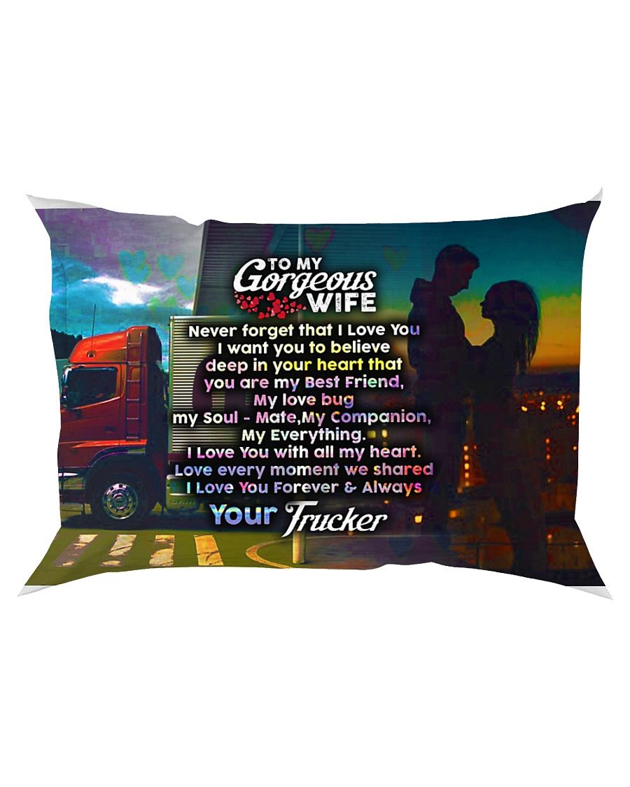 GIFT FOR A TRUCKER'S WIFE - PREMIUM Rectangular Pillowcase
