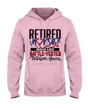 Retired Nurse Hooded Sweatshirt front