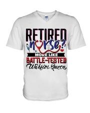 Retired Nurse V-Neck T-Shirt thumbnail