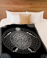 "Sea Turtle Premium Large Fleece Blanket - 60"" x 80"" aos-coral-fleece-blanket-60x80-lifestyle-front-02"