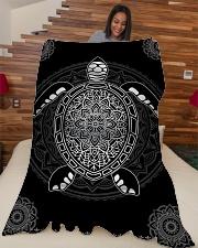 "Sea Turtle Premium Large Fleece Blanket - 60"" x 80"" aos-coral-fleece-blanket-60x80-lifestyle-front-04"