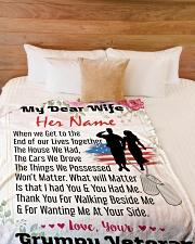 "Veteran's Wife Large Fleece Blanket - 60"" x 80"" aos-coral-fleece-blanket-60x80-lifestyle-front-02"