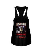 Lady Lineman - I'm the Wolf Ladies Flowy Tank thumbnail