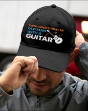 OLD GUITARIST Embroidered Hat garment-embroidery-hat-lifestyle-01