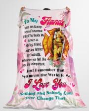 "FIREFIGHTER'S FIANCEE PREMIUM Large Fleece Blanket - 60"" x 80"" aos-coral-fleece-blanket-60x80-lifestyle-front-10"
