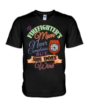 I AM A FIREFIGHTER'S MOM V-Neck T-Shirt thumbnail