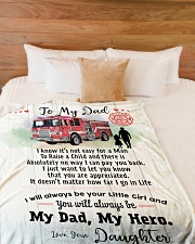 "Firefighter Dad Premium Large Fleece Blanket - 60"" x 80"" aos-coral-fleece-blanket-60x80-lifestyle-front-02"