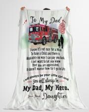 "Firefighter Dad Premium Large Fleece Blanket - 60"" x 80"" aos-coral-fleece-blanket-60x80-lifestyle-front-10"