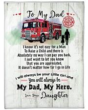 """Firefighter Dad Premium Large Fleece Blanket - 60"""" x 80"""" front"""