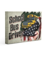 SCHOOL BUS DRIVER  - Premium 14x11 Gallery Wrapped Canvas Prints front