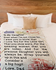 """Trucker's Daughter  Premium Large Fleece Blanket - 60"""" x 80"""" aos-coral-fleece-blanket-60x80-lifestyle-front-02"""
