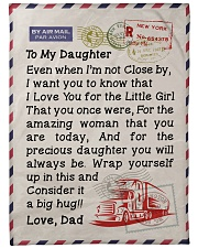 """Trucker's Daughter  Premium Large Fleece Blanket - 60"""" x 80"""" front"""