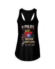 POLICE WIFE LOVES WINE Ladies Flowy Tank thumbnail