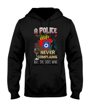 POLICE WIFE LOVES WINE Hooded Sweatshirt thumbnail