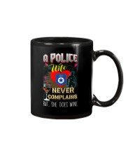 POLICE WIFE LOVES WINE Mug thumbnail