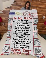 "Nurse's Wife  Premium Large Fleece Blanket - 60"" x 80"" aos-coral-fleece-blanket-60x80-lifestyle-front-04"