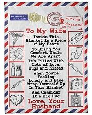 """Nurse's Wife  Premium Large Fleece Blanket - 60"""" x 80"""" front"""