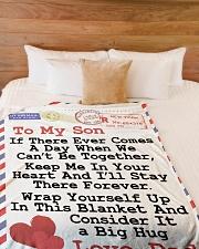 "Gift For Son  Premium Large Fleece Blanket - 60"" x 80"" aos-coral-fleece-blanket-60x80-lifestyle-front-02"
