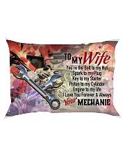 GIFT FOR A MECHANIC'S WIFE- PREMIUM Rectangular Pillowcase back