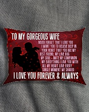 GIFT FOR YOUR WIFE - PREMIUM Rectangular Pillowcase aos-pillow-rectangle-front-lifestyle-1