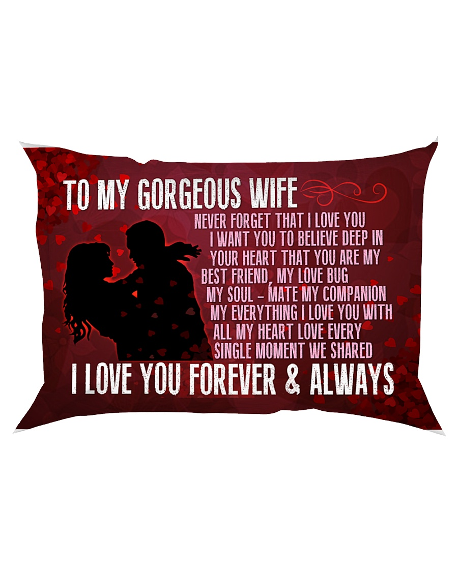 GIFT FOR YOUR WIFE - PREMIUM Rectangular Pillowcase