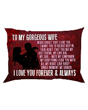 GIFT FOR YOUR WIFE - PREMIUM Rectangular Pillowcase tile
