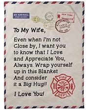 """Firefighter's Wife  Premium Large Fleece Blanket - 60"""" x 80"""" front"""