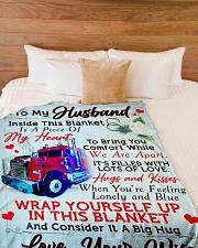 "GIFT FOR HUBBY Large Fleece Blanket - 60"" x 80"" aos-coral-fleece-blanket-60x80-lifestyle-front-02"