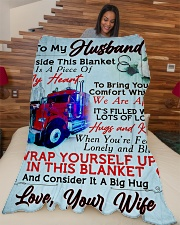 "GIFT FOR HUBBY Large Fleece Blanket - 60"" x 80"" aos-coral-fleece-blanket-60x80-lifestyle-front-04"