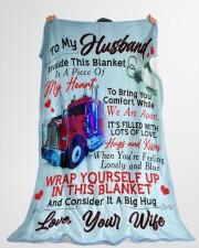 "GIFT FOR HUBBY Large Fleece Blanket - 60"" x 80"" aos-coral-fleece-blanket-60x80-lifestyle-front-10"
