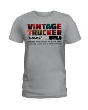 VINTAGE TRUCKER Ladies T-Shirt tile