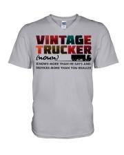 VINTAGE TRUCKER V-Neck T-Shirt tile