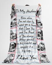 "Gift For Hubby  Premium Large Fleece Blanket - 60"" x 80"" aos-coral-fleece-blanket-60x80-lifestyle-front-10"