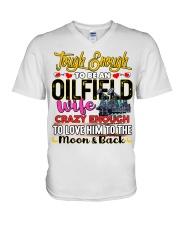 Oilfield Man's Wife V-Neck T-Shirt tile