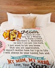 "Firefighter's Mom - Black Friday Sale Large Fleece Blanket - 60"" x 80"" aos-coral-fleece-blanket-60x80-lifestyle-front-02"