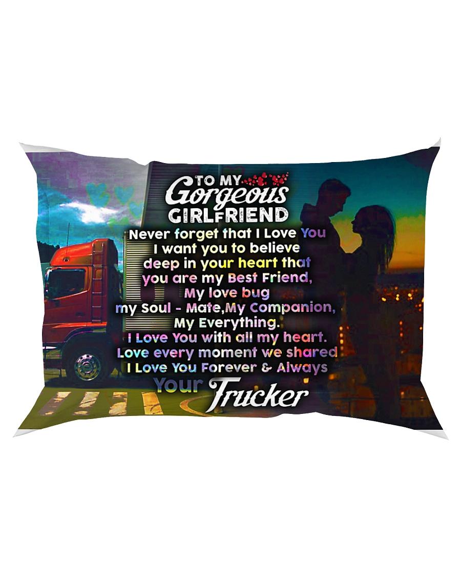 GIFT FOR A TRUCKER'S GIRLFRIEND - PREMIUM Rectangular Pillowcase