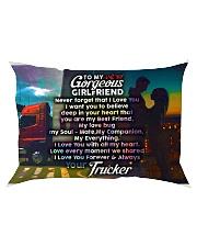 GIFT FOR A TRUCKER'S GIRLFRIEND - PREMIUM Rectangular Pillowcase front