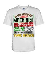 Machinist's  Wife V-Neck T-Shirt tile