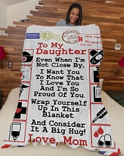 "NURSE DAUGHTER- PREMIUM Large Fleece Blanket - 60"" x 80"" aos-coral-fleece-blanket-60x80-lifestyle-front-04"
