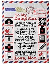 """NURSE DAUGHTER- PREMIUM Large Fleece Blanket - 60"""" x 80"""" front"""