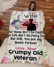 "Old Veteran's Wife  Large Fleece Blanket - 60"" x 80"" aos-coral-fleece-blanket-60x80-lifestyle-front-04"