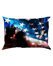 GIFT FOR A VETERAN'S GIRLFRIEND - PREMIUM Rectangular Pillowcase back