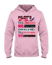 Pilot's Wife Hooded Sweatshirt front